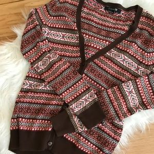 Forever 21 Brown Print Sweater!❤️